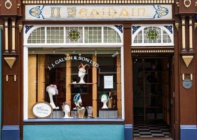 Aoife Hannon Milliner Galvins shopfront