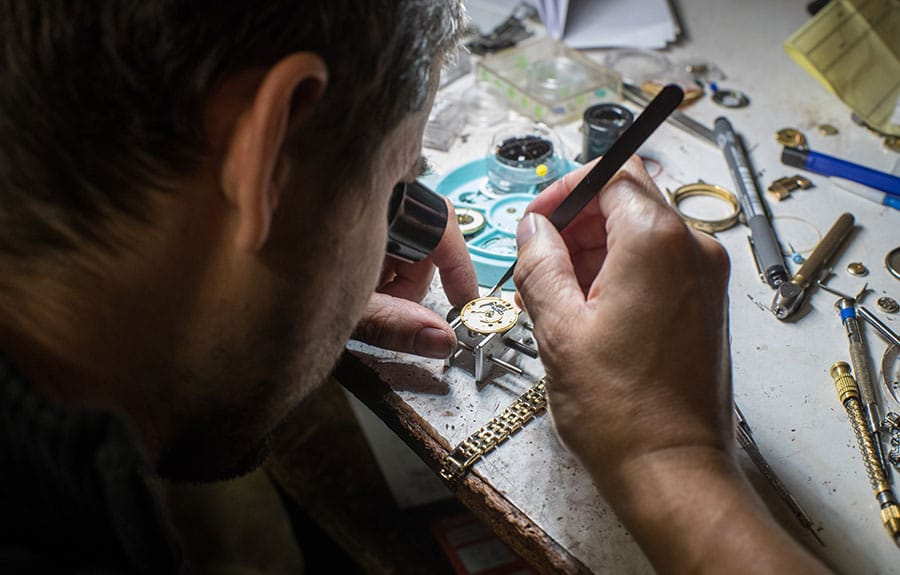 Victor Morkan Horologist at work
